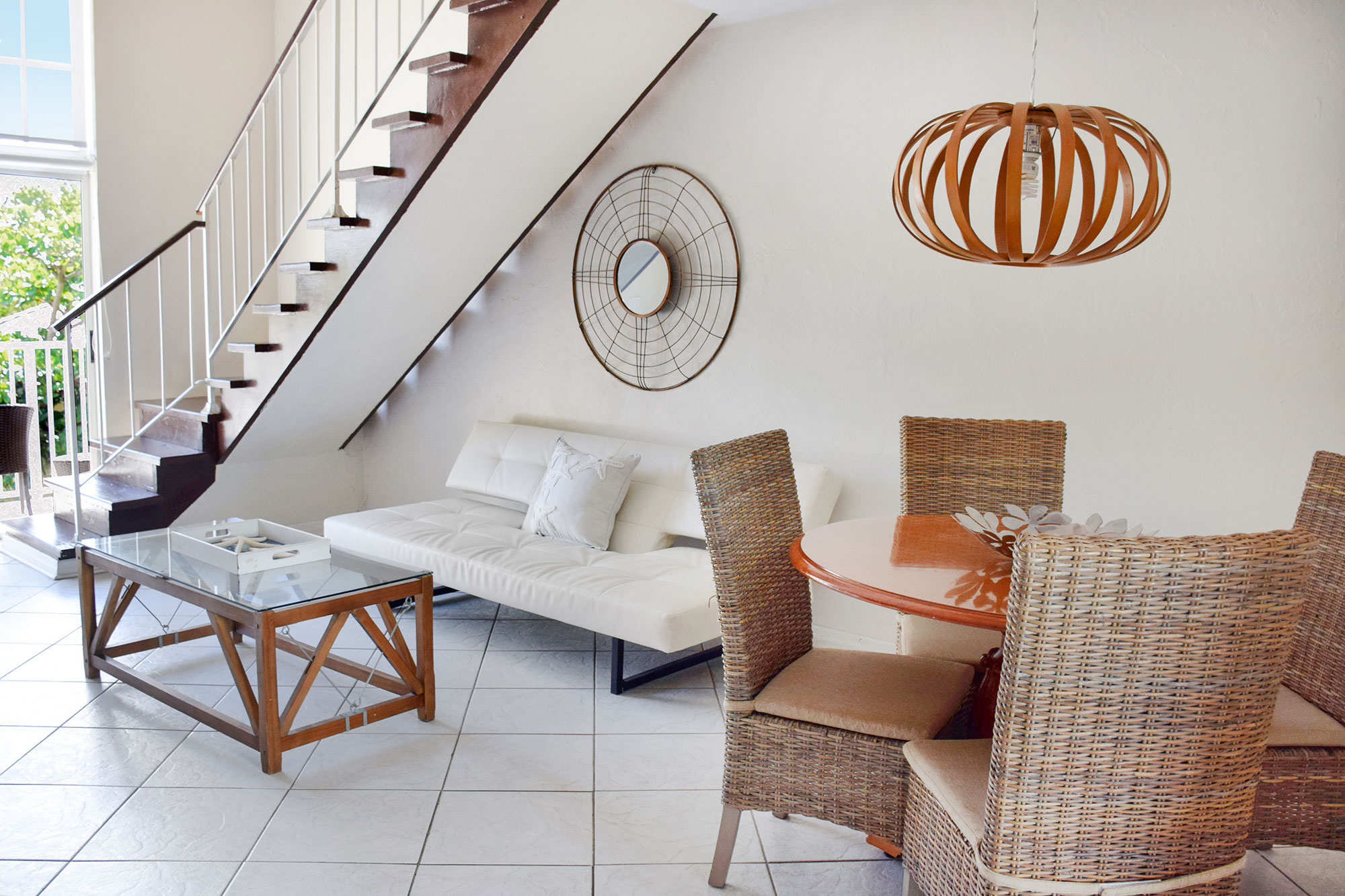 Living Room of renovated loft at Coral Reef