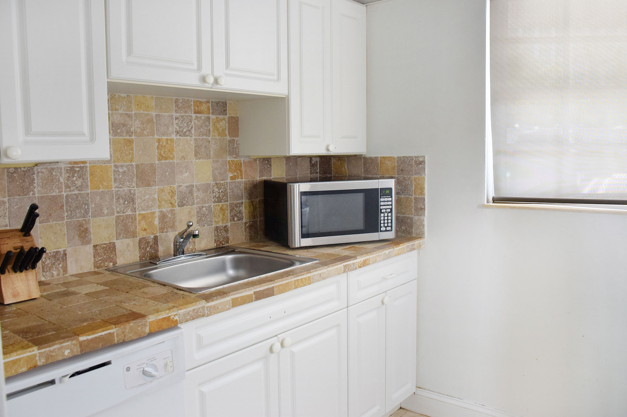 Kitchen of apartment at Coral Reef Key Biscayne